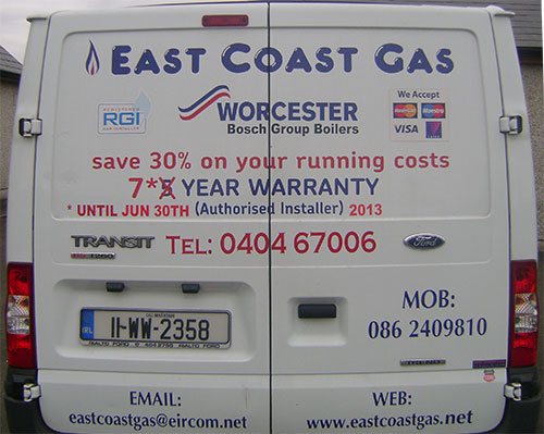 about east coast gas registered gas installers